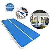 ExGizmo Inflatable Gymnastics Tumbling Mat Large Air Track mat Floor for Home Use, Cheerleading,Beach, Park W/Free Pump