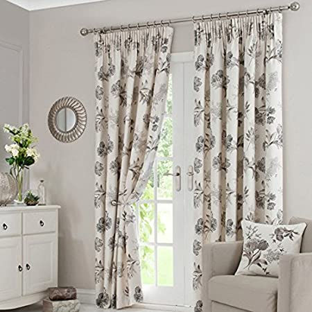 Dunelm Mill Natural Tulip Pencil Pleat Curtains Pair Width 180 Quot
