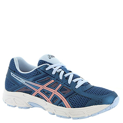 ASICS C707N Kid's Gel-Contend 4 GS Running Shoe, Azure/Frosted Rose - 5