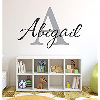 Baby Girl Initial Personalized Custom Name Vinyl Wall Decal 20 Part 62