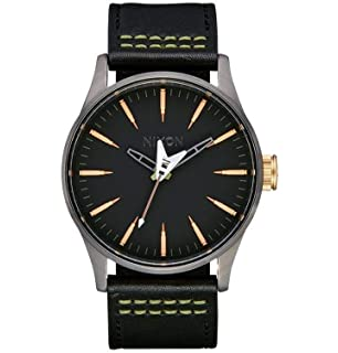 Nixon Mens Sentry Leather Metallica Collection - Seek & Destroy