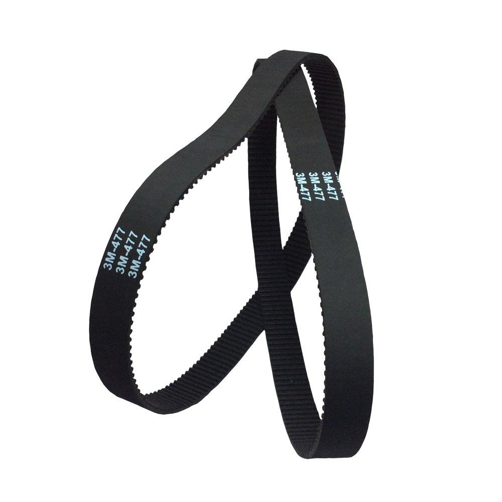 BEMONOC HTD 3M Timing Belt 300mm Length 100 Teeth 10mm Width Rubber Conveyor Belts Pack of 2pcs