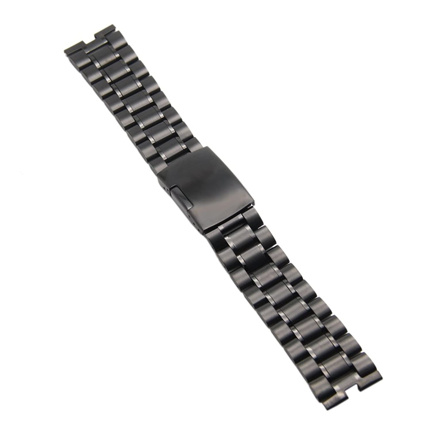 Ritche Black Stainless Watch Band Strap Replacement for Motorola Moto 360 Smartwatch Screen Protector