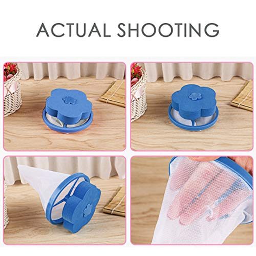 Washing Machine Lint Filter Bag,Mesh Bag Hair Filter Net,Reusable Washing Machine Filter(D) by MONISE (Image #2)