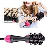 Multi-functional Hair Dryer & Volumizer, Negative Ion Brush,Hair Straightener, Curler and Styler for All Hair Types - US Plug