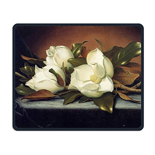 Giant Magnolias Flowers Painting Non-Skid Natural Rubber Mouse Pad Computer Gaming - Giant Magnolias