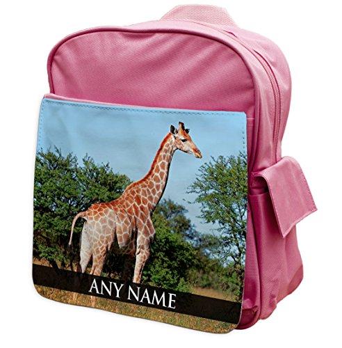 130 Giraffe Rucksack Animal personalisierbar Pink Rucksack vfFXAqBw