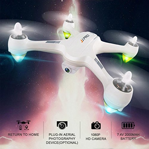 Inverlee JJRC JJPRO X3 RC Quadcopters Drone GPS 2.4G 6CH Brushless WiFi FPV 1080P RTF (White) by Inverlee