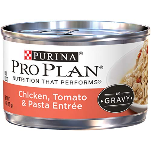 Purina Pro Plan Chicken, Tomato & Pasta Entree in Gravy Adult Wet Cat Food - (24) 3 oz. Pull-Top Cans