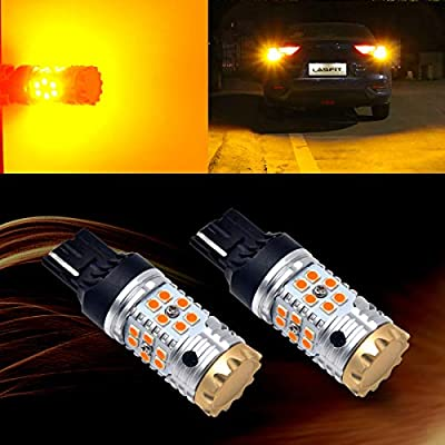 LASFIT 7440 7440NA WY21W CANBUS Anti Hyper Flash LED Turn Signal Light Bulb for Toyota, Plug & Play Amber Yellow (Pack of 2): Automotive