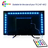 LED Strip Lights, Maylit 2M/6.56ft RGB LED Light Strip for 40 to 60in TV Lights Bias Lighting for TV Backlight with Remote, USB LED Light Strip for TV LED Backlight