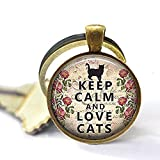 Best Asa Gifts For Lovers - Keep Calm and Love Cats Keychain ,cat lover Review