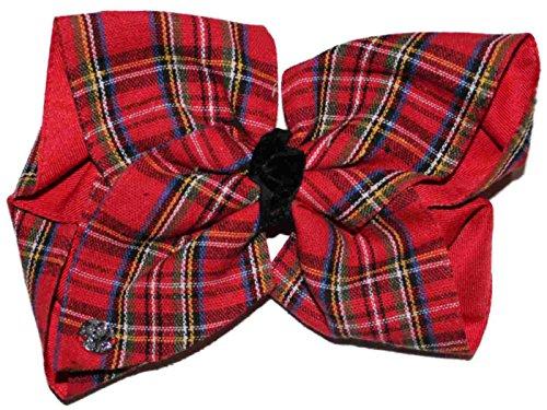 nickelodeon jojo siwa giant christmas plaid bow hair clip