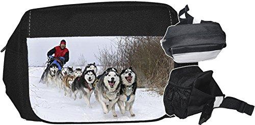 +++ SIBIRIEN Siberian HUSKY Schlittenhund - GÜRTELTASCHE Bauchtasche Futterbeutel HÜFTTASCHE Tasche - SBH 02