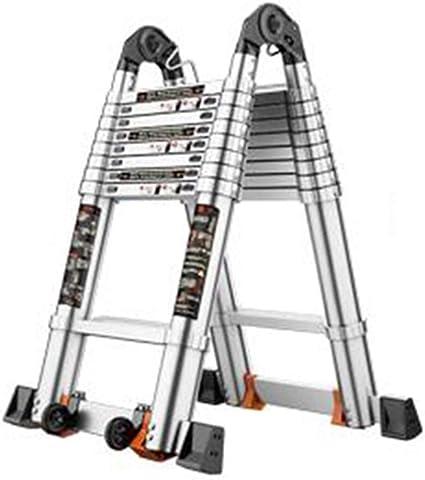 Escalera extensible/ Escalera telescópica Escalera de extensión telescópica de Aluminio Portátil, Multiusos Escaleras de Bastidor en A Plegables, 150 kg, 9.3 pies / 11.6 pies / 14 pies / 16 pies: Amazon.es: Hogar