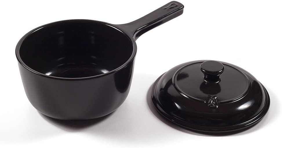 Xtrema- Ceramic Cookware Traditions Saucepan/Pot With Lid | 100% Ceramic,Organic, Green All Natural, Stove, Oven & Microwave Safe 2.5-Quart