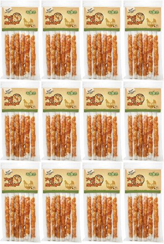 Pet 'n Shape Chicken Hide Twists Jerky Treats 10in, 72ct (12 x 6ct)