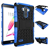 LG G Stylo / Stylus LG LS770 Case, NOKEA [Kickstand] [Drop Protection] [Shock Reduction] [Anti-Skidding] Premium Protective Bumper Case for LG G Stylo / Stylus LG LS770 (Blue)