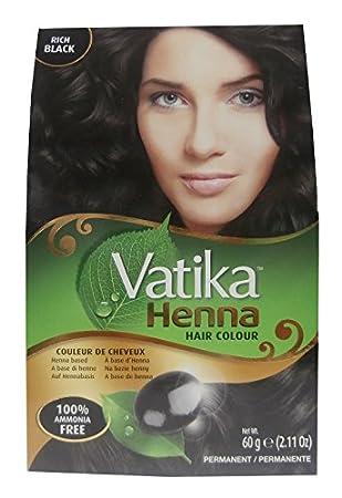 Dabur Vatika Henna Hair Colour Permanent Rich Black 6x10g