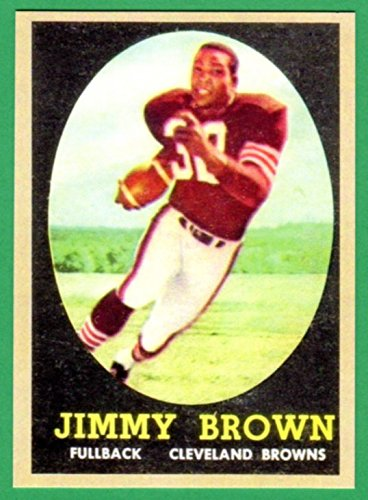 Jim Brown 1958 Topps Football Rookie Reprint Card - Finest 2003 Card Topps
