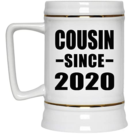 Best Gifts For Parents 2020 Amazon.  Cousin Since 2020 22oz Beer Stein Ceramic Bar Mug