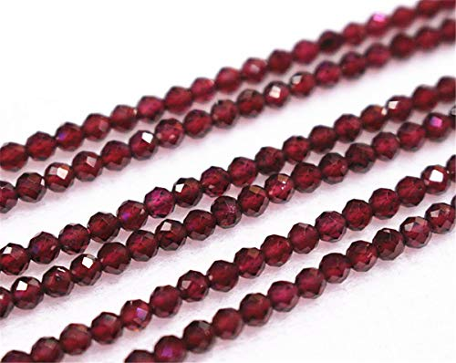 Wholesale Natural AA Faceted Garnet Beads,2mm 3mm 4mm Garnet Round Beads. Garnet Beads Wholesale.Wholesale Beads (4mm,90pcs)