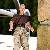 World Peacekeepers Action Figure - Collectible 12 Inch Military Action Figure Army Man - Army Men Toys w/ 6 Accessories (Brown)