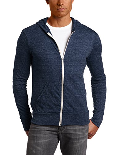 Alternative Men's Eco Zip Hoodie Sweatshirt Shirt, Eco True Navy, X-Large (Hoodie Sweatshirt Jumper)