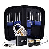 Xinrui Strong Pick and Hook Set,17-Piece(2 Locks Included)