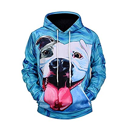 Mjia Hoodie Unisex Sweatshirt,Shar Pei Dog,3D Turtleneck Sweater,A,M