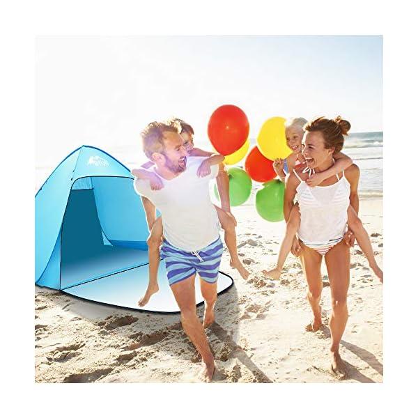 Bfull Tenda Da Spiaggia Per Esterni Portatile Con Protezione Solare Per 1 o 2 Persone, Apertura Istantanea Pop-up Colore… 5 spesavip