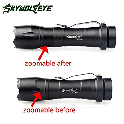 Willsa LED Super Bright Flashlight 2000LM 3 Mode Zoomable CREE Q5 AA/14500 Mini Size Poratable