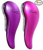 BOMBEX Detangling Brush - 2-Piece Value Set - Wet Hair Brush,Professional No Pain Detangler for Women,Men,Kids,Purple & Pink