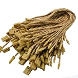 Renashed Hang Tag String Hemp Twine String Snap Lock Pin Loop Fastener Hook Ties Easy and Fast to Attach 500 Pieces