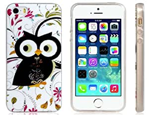 Delicate Owl Print Skin Plastic Case for iPhone 5S/5