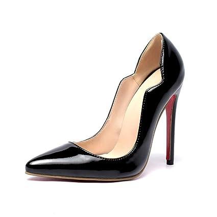 c71c32068b559 Amazon.com: MEMIND Patent Leather Queen Ms Pointed High Heels Fine ...