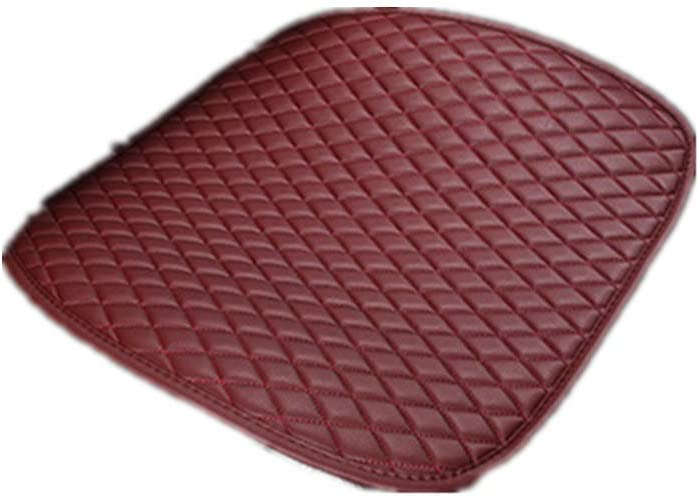 CviAn Car Seat Cushion PU Leather Car Seat Cover Pad Seat cushion Mat Edge Wrapping Car Front Seat Cushion Cover Pad Mat
