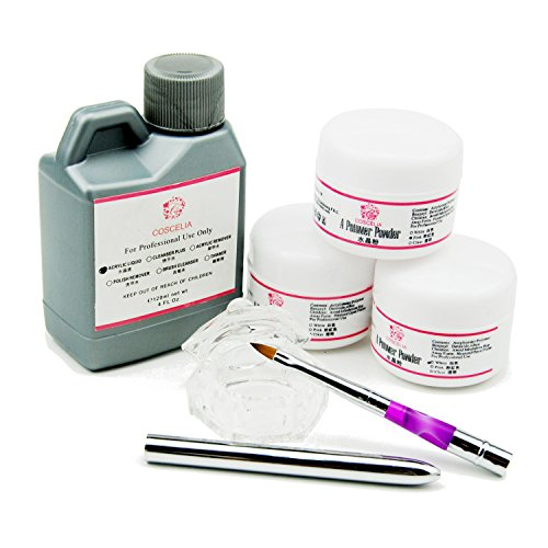 Fashion Zone Base Acrylic Powder Liquid Starter Kit with Nail Art Brush