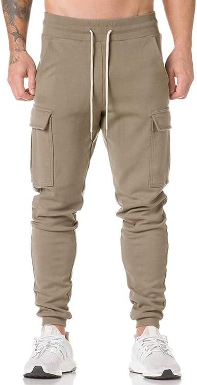 ZEVONDA Pantalones de chándal Casuales para Hombre - Pantalones de ...