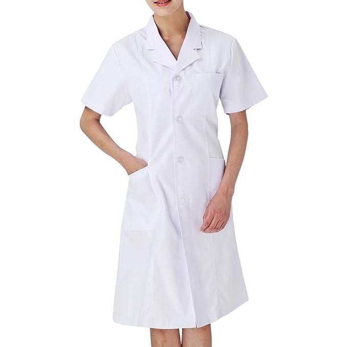 Harson&Jane - Bata de Laboratorio - Parka - Mujer Short Sleeve S