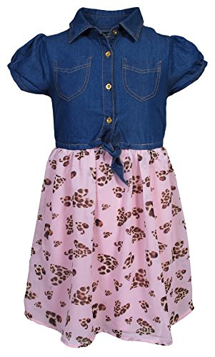 Pink Denim Dress - 6