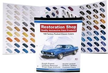 amazon 144 restoration shopカラーchart auto 車ペイントチップ