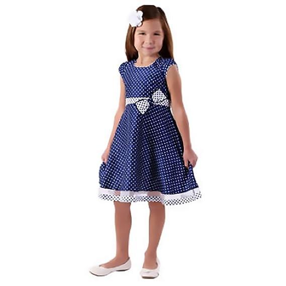 260e0a22bc78 Jona Michelle Mädchen A-Linie Kleid Blau Marineblau Gr. 8, Blau - Marineblau