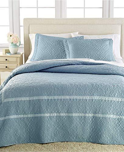 (Martha Stewart Collection Flowering Trellis Slate Blue Standard Sham Bedding )