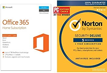 Microsoft Office 365 Software + Norton Security Deluxe