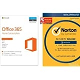 Microsoft Office 365 Home & Norton Security Deluxe [5-Device key cards]