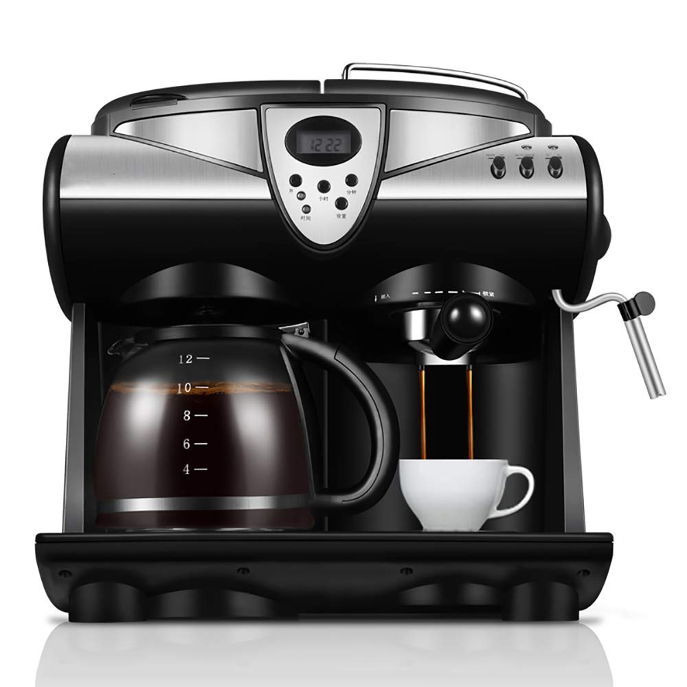 Acquisto ZUEN Macchina Automatica del caffè Espresso dell'ufficio 1.5L, Macchina Americana del Latte della Bolla del Vapore della caffettiera della Macchina per Il caffè 20Bar Schermo LCD Prezzi offerta
