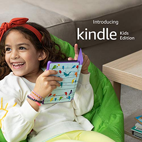 Allnew Kindle Kids Edition  Includes access to thousands of books  Rainbow Birds Cover