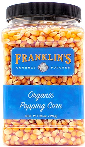 Gourmet Popcorn Tub (Franklin's Organic Popping Corn (28 oz). Make Movie Theater Popcorn at Home.)