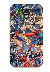 New Tpu Hard Case Premium Galaxy S4 Skin Case Cover(justice League)
